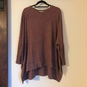 Over size brown/red CHERISH crew neck sweater sz.M